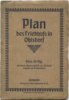 Hamburg - Plan Des Friedhofs In Ohlsdorf 1903 - 70cm X 70cm - Verlag Otto Loehmann & Co. Hamburg - Rückseitig Werbung - - Karten