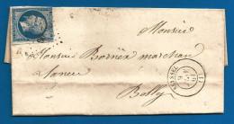 France - N°14B Sur Lettre De SEYSSEL (PC2893) Vers BELLEY Du 9/1/61 - Marcophilie (Lettres)