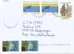 Madagascar 2011 Maintirano Whale Postman Palm Overprint 300 Ar Cover - Madagaskar (1960-...)