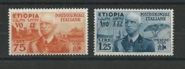 ITALIE : ETHIOPIE - YVERT N° 6/7 ** - COTE = 125 EUROS - - Aethiopien