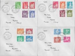 GRINDELWALD → Postgeschichtliche Motive&Baudenkmäler 1960-1968 ►4 Briefe Schön Gestempelt GRINDELWALD◄ - Schweiz
