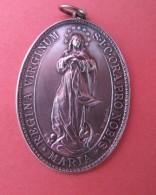 RELIGION  (Médaille Ovale Congrégation  Der Marienkihder ZABERN 1885/1910 ( Saverne ) - Origen Desconocido