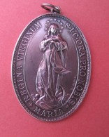 RELIGION  (Médaille Ovale Congrégation  Der Marienkihder ZABERN 1885/1910 ( Saverne ) - Onbekende Oorsprong
