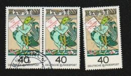 Deutschland BRD 1976 Michel 902 X3 Gestempelt - Ein Waagerechtes Paar, H.J. Von Grimmelshausen 40 Pf., Yv. 751, Sc. 1223 - Gebraucht