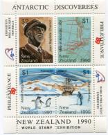 NOUVELLE-ZELANDE BLOC-FEUILLET D´EXPOSITION PHILATELIQUE MONDIALE A PARIS ANTARTIC DISCOVERERS - Events & Commemorations