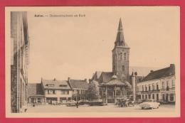 Aalter - Gemeenteplaats En Kerk  - Oldtimer   ( Verso Zien ) - Aalter