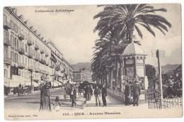 NICE  -  Avenue Masséna. Belle Animation. Pas Courante. - Nice