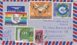 EAST PAKISTAN - KUSHTIA , 1970 , Mit Zuschlagsmarke Für Den Kampf (Aufstand In Bangladesh) - Brief Nach Berlin