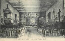 33-1915 CPA  PESSAC  Intérieur De L'église     Belle Carte - Pessac