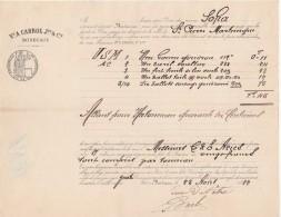 Connaissement 25/8/1882 Cabrol Bordeaux Navire SOFIA Pour St Pierre Martinique - Gomme Goudron Huile De Lin - Documentos Históricos