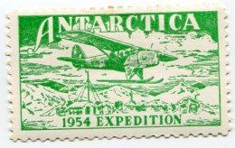 VIGNETTE VERTE ANTARCTICA 1954 EXPEDITION - Events & Commemorations