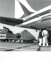 Photo Exploitation AEROPORT DE PARIS 17x20cm AIR FRANCE - Boeing 707-328B F-BHSF - Aviation