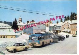 39 - LAMOURA - LA STATION SOUS LA NEIGE - AUTOBUS - Other Municipalities