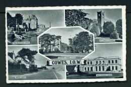 ENGLAND  -  Isle Of Wight  Cowes  Multi View  Unused Vintage Postcard - Cowes
