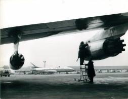 Photo Exploitation 19x24cm   AIR FRANCE - CARAVELLE - F-BHRG BERRY Au Fond - Aviation