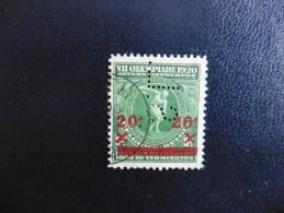 Belgique : Timbre N° 184  Perforé   S.L  :oblitéré - 1909-34