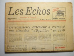 Les Echos 15 Janvier 1971 N°10830 - General Issues