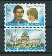 1981 New Zealand Complete Set Royal Wedding Used/gebruikt/oblitere - Nieuw-Zeeland