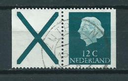 1967 Netherlands Combinatie Uit Postzegelboekje X + 12 Used/gebruikt/oblitere - Postzegelboekjes En Roltandingzegels
