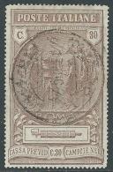 1923 REGNO USATO CAMICIE NERE 30 CENT - U19-8 - Usati