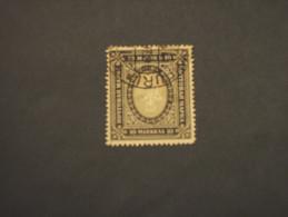 FINLANDIA - 1901/16 STEMMA 10 M., Dent. 13 1/2 - TIMBRATO/USED - 1856-1917 Administration Russe