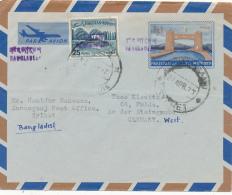 BANGLADESH -  Inland Letter Nach Fulda  - Pakistan Mit Aufdruck - Bangladesch