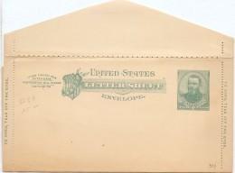 LCIRC6 - ETATS UNIS LETTER SHEET 2c NEUVE - Postal Stationery