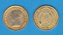 ISABEL II (1.833-1.868) DOBLON De 100 REALES 1.850 ORO-MADRID Réplica  T-DL-11.804 - Fausses Monnaies