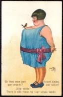 Thiele A. - Humour - Dame Avec Oiseau Sur Les Seins - Nr. 2403 - Woman With Little Bird On Her Breast - Thiele, Arthur