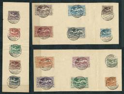 Poland 1920, Upper Silesia (Plebiscite) MiNr 13-29 Used Stamps On Piece - Postmark LONSCHNIK (Lacznik) - Silésie (Haute & Orientale)