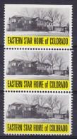United States Masonic Eastern Star Home Of Colorado Vignette 3-Stripe Freimaurer Masonry Maçonnique - Franc-Maçonnerie