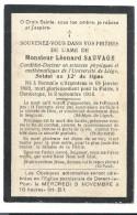 Souvenir L. Sauvage Université De Liège Soldat 12ème De Ligne Hermalle / Argenteau Dcd Dunkerque 1893-1914 Guerre 14-18 - Todesanzeige