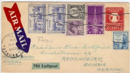 LCIRC6 - ETATS UNIS EP ENVELOPPE  VOYAGEE MILWAUKEE / REGENSBURG DÉCEMBRE 1939 - Entiers Postaux