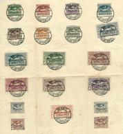 Poland 1920, Upper Silesia (Plebiscite) MiNr 13-29 Used Stamps On Piece - Postmark ZALENZE (Zaleze), TARNAU (Tarnow) - Silésie (Haute & Orientale)