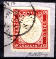 Sardegna-098 - 1855/63 - Sassone N. 16F (o) - Privo Di Difetti Occulti - - Sardegna