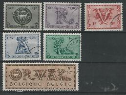 Belgie COB° 625-630 - Belgique