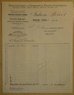 Facture Ancienne -Bainville Sur Madon Près De  Nancy -   (54) - Artesanos