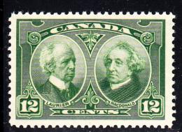 Canada MNH Scott #147 12c Laurier & MacDonald - Historical Issue - Neufs