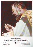Reliquia Del Servo Di Dio Padre Pio (C), Santino Pieghevole Con Preghiera - Religione & Esoterismo