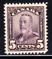 Canada MNH Scott #153 5c George V Scroll Issue - Neufs