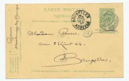 689/23 - Entier Postal Armoiries BRUGES Station 1905 - Origine Manuscrite STEENBRUGGE Exp. Gevers - Stamped Stationery