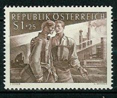 Austria 1955 Returnees And Industrial Workers; Ruin And Industrial Plant Mi 1019, MH(*) - 1945-.... 2ème République