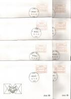 1981 - EMISSION D´ESSAI - 24 FDC - VA1 à VA6 - Vignettes D'affranchissement