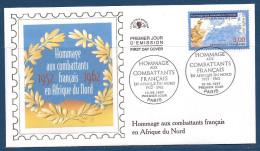Env Fdc 10/5/97 Paris, N°3072 Y Et T , Hommage Aux Combattants Français D'afrique Du Nord, Soldat, Carte De L'afrique - 1990-1999