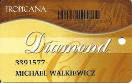 Tropicana Casino Atlantic City NJ Slot Card  With Barcode - PG Over Mag Stripe - Casino Cards