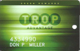 Tropicana Casino Atlantic City NJ Slot Card  - C-1582L Over Mag Stripe - Casino Cards