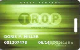 Tropicana Casino Evansville, IN - Green Rewards Slot Card - Casino Cards