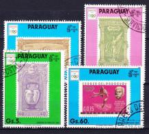 PARAGUAY 1990 YT N° 2490, 2492 à 2494 Obl. - Paraguay