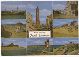 Insel BORKUM ; LEUCHTTURM / PHARE - Schiff, Strand, Zug - Borkum