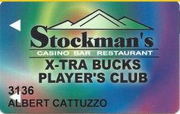 Stockman's Casino Fallan, NV - Slot Card - Casino Cards